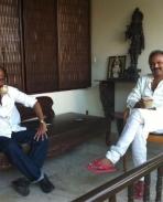 Rajinikanth celebrates his bday at Hyderabad with Mohan Babu