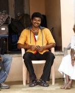 Vijay with Koundamani's mother
