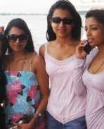 Trisha with friends