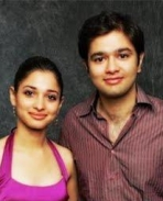 Tamanna with her brother Anand