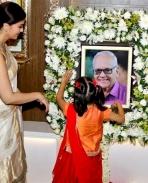 AishwaryaRai at her fathers 13th day prayer meet !!