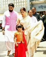 AishwaryaRai at her fathers 13th day prayer meet !!