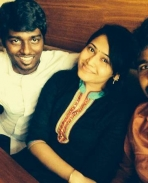 Atlee & priya with Siva karthikeyan
