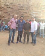 prabhas at baahubali 2 shooting spot