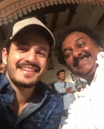 Akhil Visits Chiranjeevi's Khaidi no 150 movie location