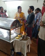 mohan sir @ have condoled the death of MLA Vijayadharanis husband Sivakumar Kennedy and paid tribute
