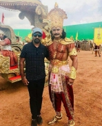 Kurukshetra movie on the sets pics
