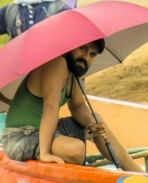 Ram charan on the sets of Surkumar movie
