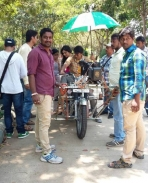 Rana Vikrama movie latest working stills