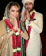 Sahil and Dia mirza marriage photos