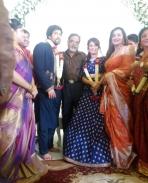 ambareesh and sumalatha at yash radhika pandit engagement