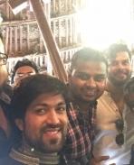 santosh anandram at yash and radhika pandit engagement