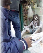 Upendra on the sets of Uppi 2