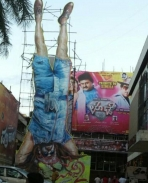Uppi 2 cutout at main theatre Narthaki