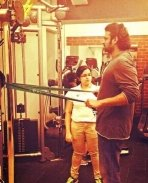 Prabhas at Gym