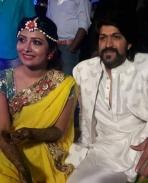 yash marriage mehindi function photos