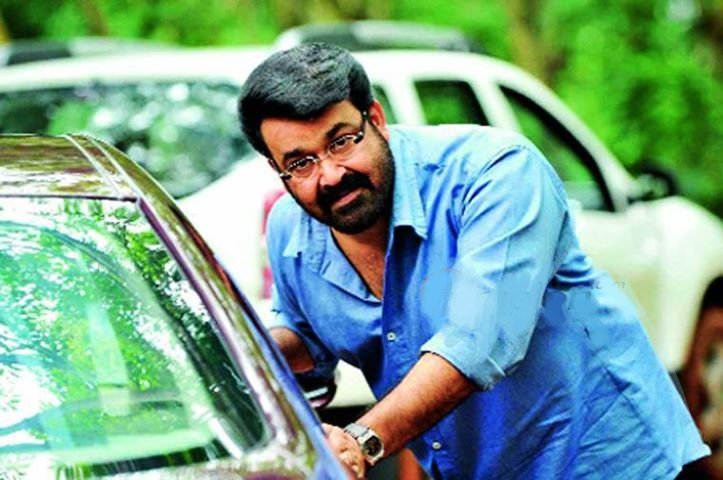 lalettan in th set of geetanjali