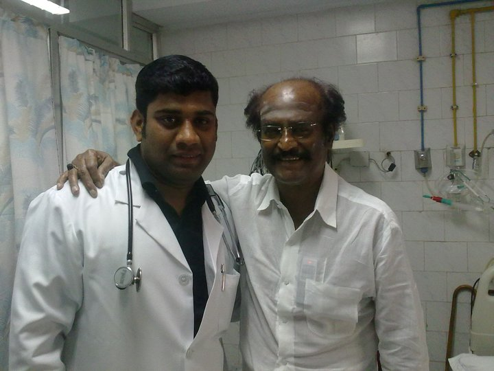 Rajinikanth at Hospital