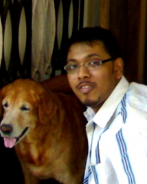 Magesh with his Pet