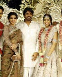 Akhil Akkineni and Shriya Engagement photos