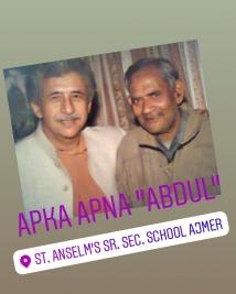 Nasiruddin Shah Fan St. Anselm Ajmer
