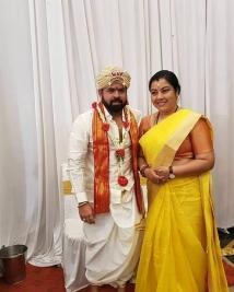 santhosh andaram marriage photos