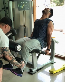 ntr latest workout pics