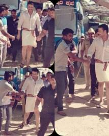 darshan look in yajamana movie leaked online
