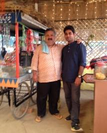Manoj Pahwa with writer Ashish Aryan