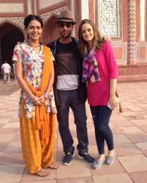 Writer Ashish Aryan with Bidita and Ali Faulkner