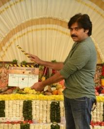 Pawan kalyan new movie launch stills
