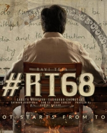 ravi teja RT68 movie poster