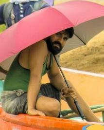 Ram charan on the sets of Surkumar movie
