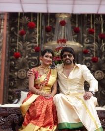 yash radhika pandit marriage reception photos