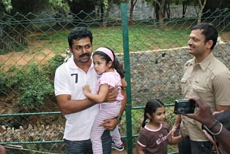 Karthi with Diya