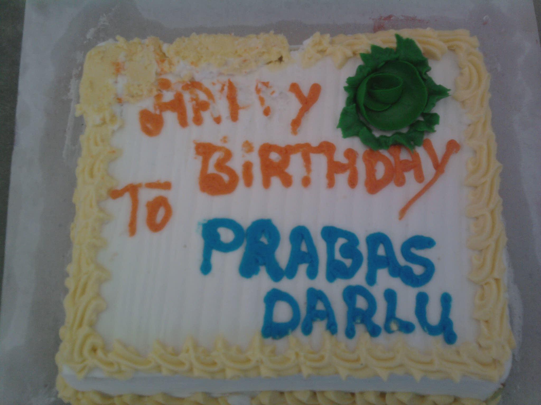 hi.prabhas darlu.this cake s 4 u 4m ur fans-bangalore
