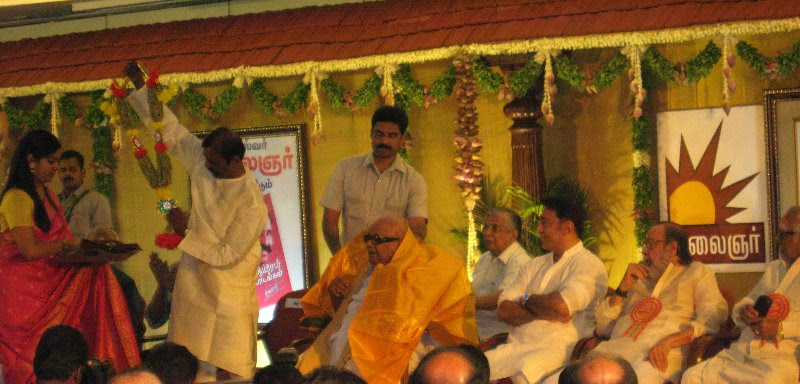 Kalaignar launches Vairamuthu's book