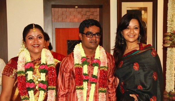 Reema sen @ Selva - Geethanjali Enggagement