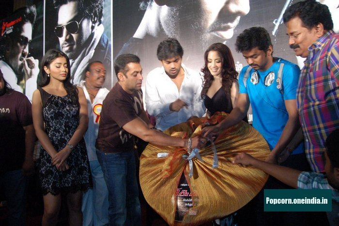 Salman , Vijay & Shriy at Markandeyan Audio Launch