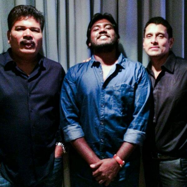 Chiyaan with Shankar
