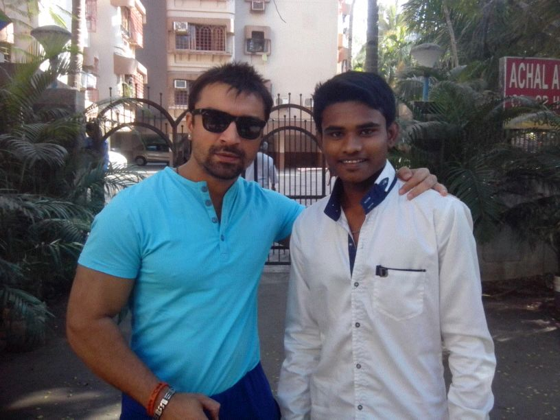 Wahab with AJAZ KHAN