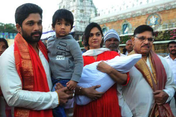 Allu arjun visited Tirumala photos