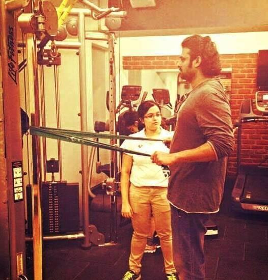 Prabhas working hard in GYM