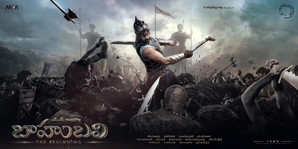 Prabhas in and as Baahubali poster