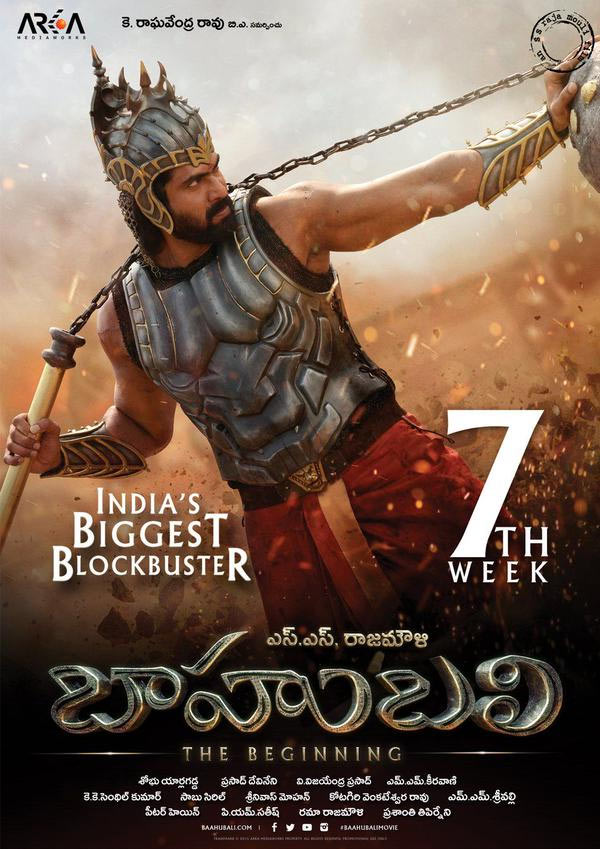 Baahubali 7th week posters
