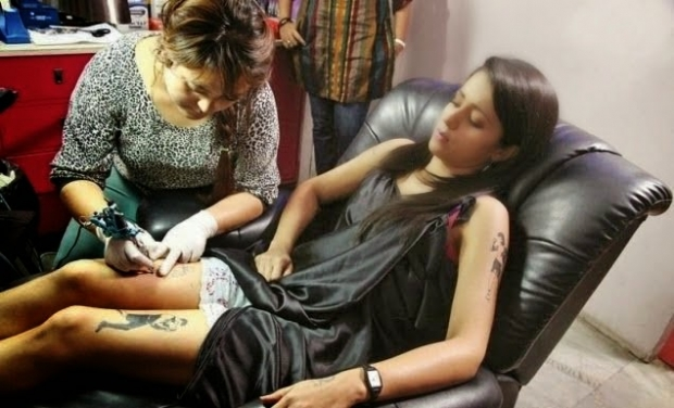 Trisha with tattoo