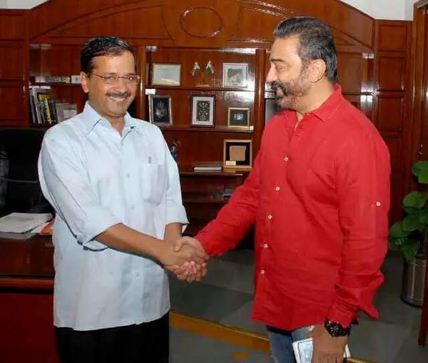Kamal with arvind kegriwal 2