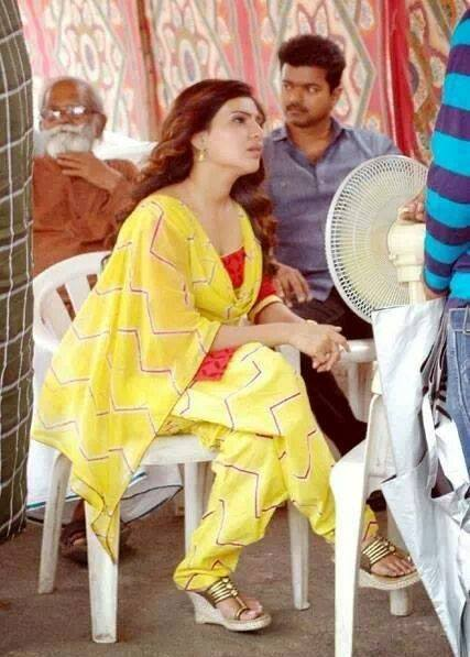 Vijay @ Kaththi shooting spot