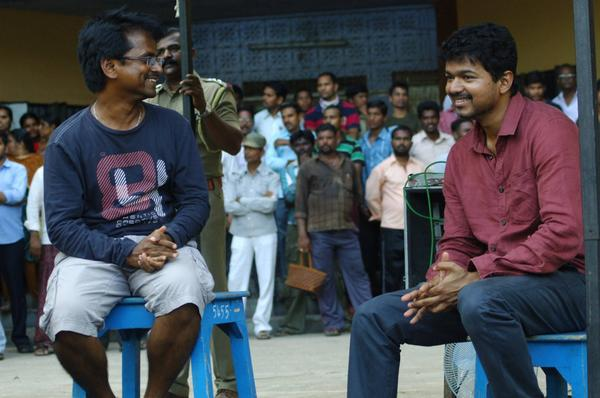 kaththi making stills