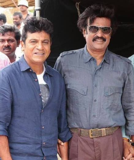 Lingaa On set with Shivaraj Kumar